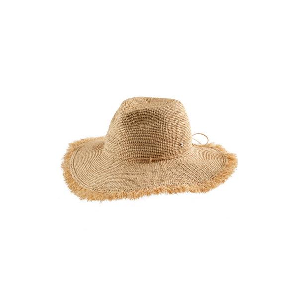 ヘレンカミンスキー レディース ヘアアクセサリー アクセサリー Round Crown Straw Hat Nougat/ Nougat Fringe