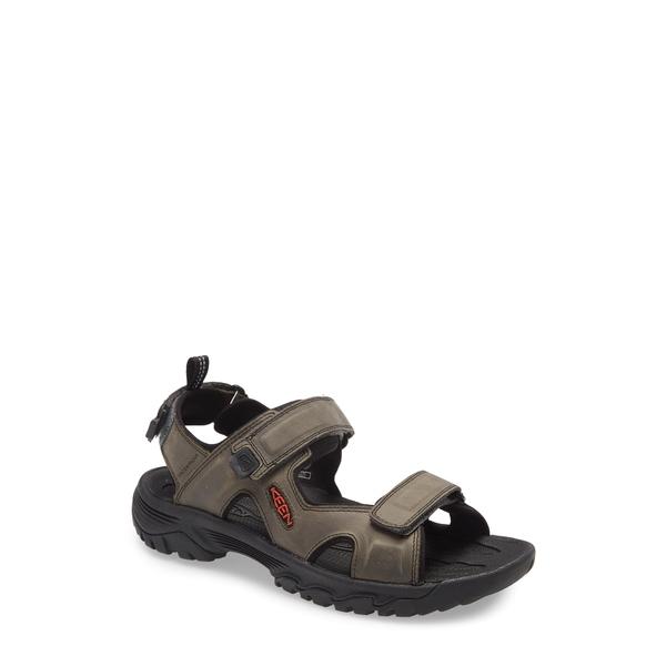 キーン メンズ サンダル シューズ Targhee III Sandal Grey/ Black