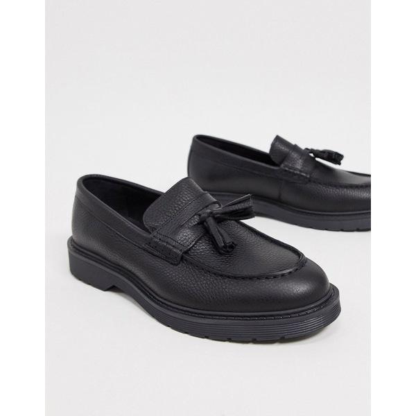 若者の大愛商品 セレクテッドオム メンズ loafer ドレスシューズ シューズ in Selected Homme leather tassel tassel loafer in black Black, SportsShopファーストステーション:3a37f815 --- rishitms.com