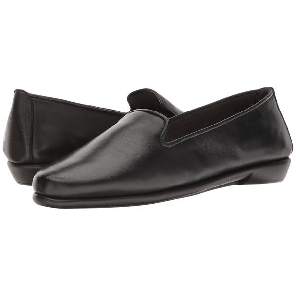エアロソールズ レディース スリッポン・ローファー シューズ Betunia Black Leather