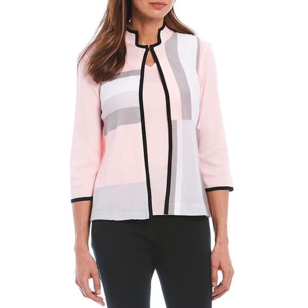 ミンウォン レディース ジャケット&ブルゾン アウター 3/4 Sleeve Mandarin Collar Colorblock Jacket Sugar/Sterling/White/Black