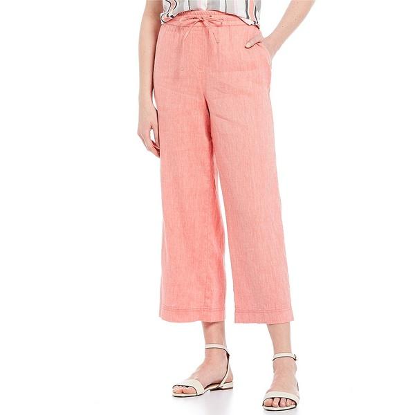 ジョーンズニューヨーク レディース カジュアルパンツ ボトムス Twill Crossdye Linen Cotton Blend Pull-On Flare Leg Crop Pants Watermelon