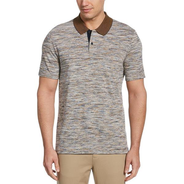 ペリーエリス メンズ ポロシャツ トップス Space Dye Short-Sleeve Polo Shirt Bright White