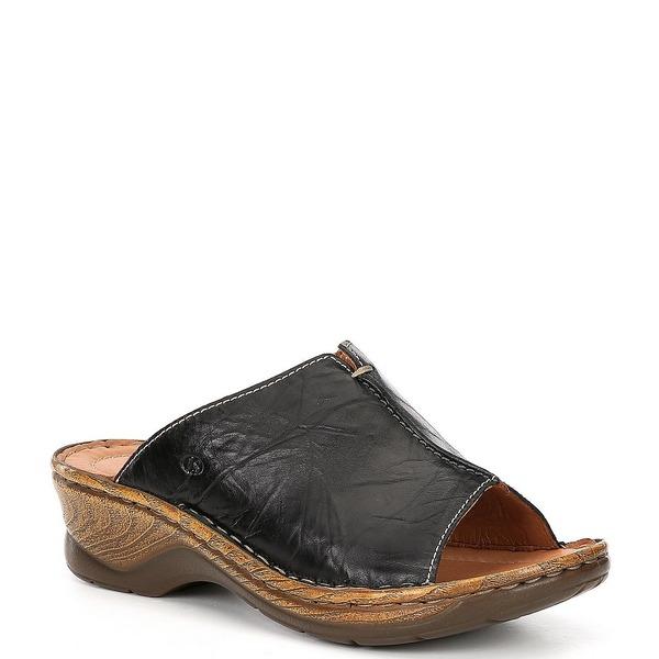 ジョセフセイベル レディース サンダル シューズ Catalonia 58 Leather Slides Black
