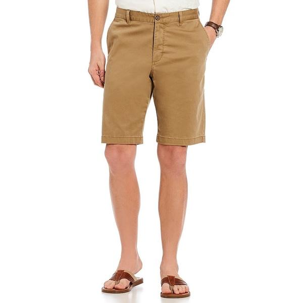 トッミーバハマ メンズ ハーフ&ショーツ ボトムス Flat-Front Straight-Fit Stretch Sateen 10#double; Inseam Boracay Shorts British Bourbon