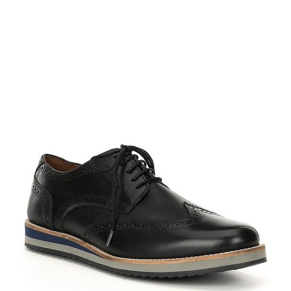 ジョセフセイベル メンズ ドレスシューズ シューズ Men's Yannick 01 Leather Wingtip Oxford Black