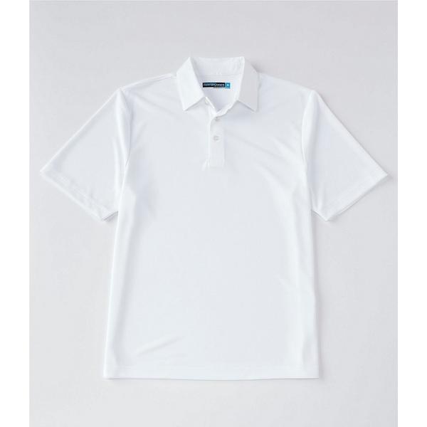 ランドツリーアンドヨーク メンズ シャツ トップス Performance Short-Sleeve Solid Polo Bright White