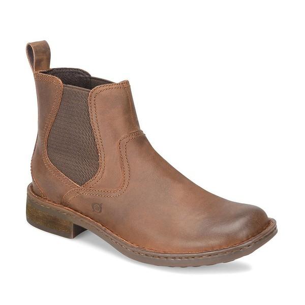 ボーン メンズ ブーツ&レインブーツ シューズ Men's Hemlock Leather Chelsea Boots Brown