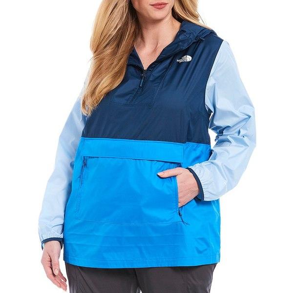 ノースフェイス レディース ジャケット&ブルゾン アウター Plus Size Rain Resistant Fanorak 2.0 Clear Lake Blue