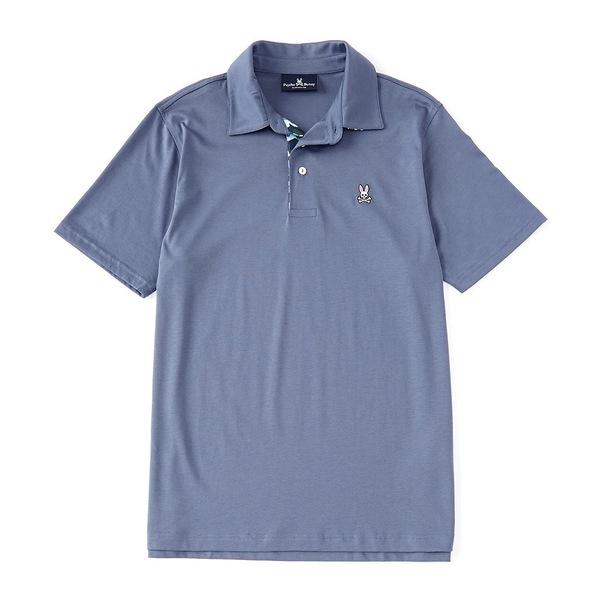 サイコバニー メンズ ポロシャツ トップス Rowcross Short-Sleeve Polo Shirt Normandy