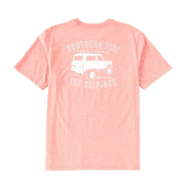 サウザーンタイド メンズ Tシャツ トップス Coastal Lifestyle Truck Short-Sleeve Tee Heather Sunkist Coral