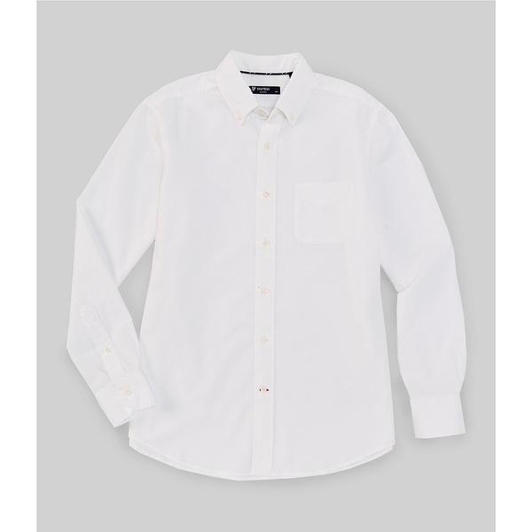 クレミュ メンズ シャツ トップス Big & Tall Solid Oxford Long-Sleeve Woven Shirt White