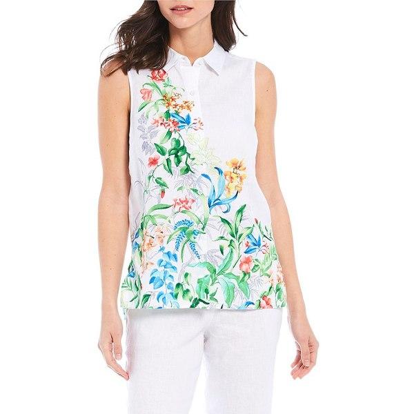 トッミーバハマ レディース シャツ トップス Trailing Vines Sleeveless Shirt White