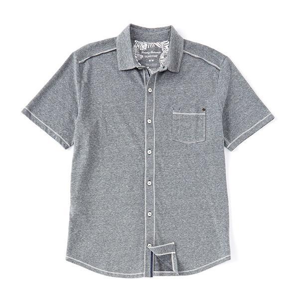 トッミーバハマ メンズ シャツ トップス Bodega Cove Camp Short-Sleeve Woven Shirt Coal