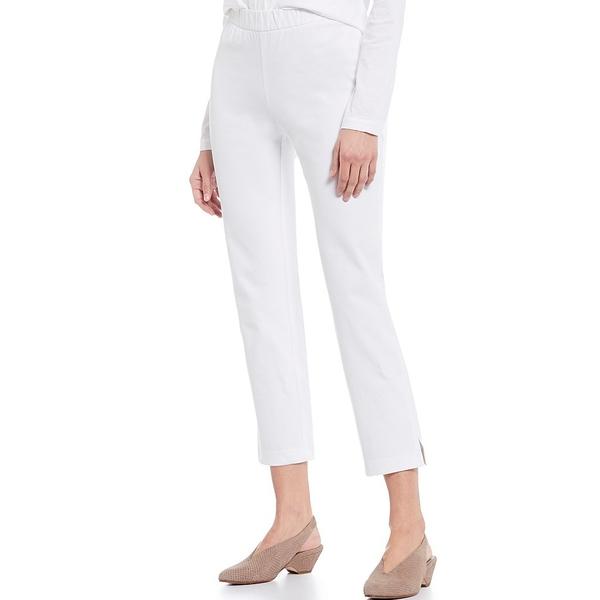 エイリーンフィッシャー レディース カジュアルパンツ ボトムス Cotton Blend Stretch Twill Midrise Ankle Pants With Slits White