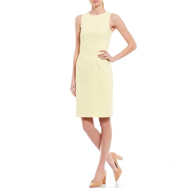 アントニオメラニー レディース ワンピース トップス Gretta Double Face Stretch Cotton Blend Sheath Dress Sunlight