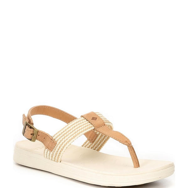 スペリー レディース サンダル シューズ Adriatic Leather Thong Sling Sandals Light Peanut