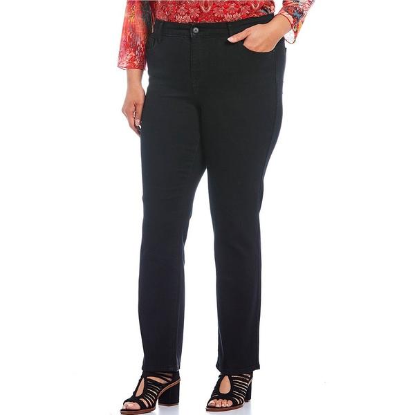 コードブリュー レディース カジュアルパンツ ボトムス Plus Size Chelsea Straight Leg Novelty Back Pocket Jeans Black