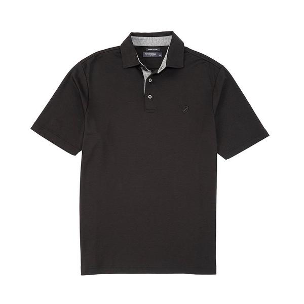 クレミュ メンズ ポロシャツ トップス Supima Cotton Solid Short-Sleeve Polo Shirt Black