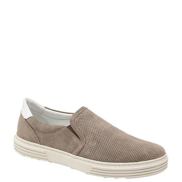 ジョンストンアンドマーフィー メンズ スニーカー シューズ J&M Est. 1850 Men's Pascal Perforated Slip On Sneakers Taupe