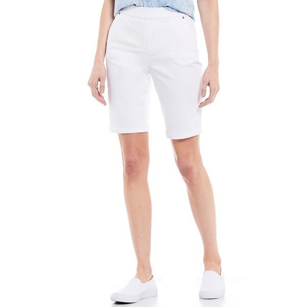 イントロ レディース カジュアルパンツ ボトムス Rose Tummy Control Pull-On Power Stretch Bermuda Shorts Bright White