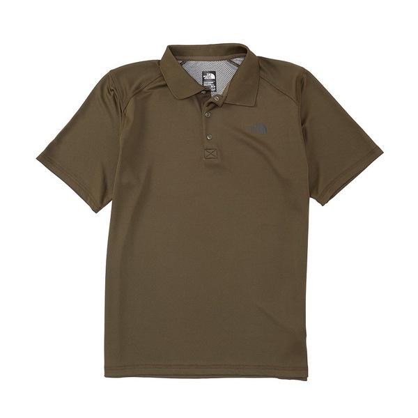 ノースフェイス メンズ ポロシャツ トップス Short-Sleeve Horizon Tonal-Striped Polo New Taupe