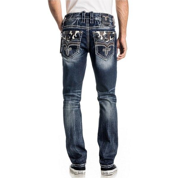 ロックリバイバル メンズ デニムパンツ ボトムス Mid-Rise Coren Alternate Straight Jeans Medium Blue