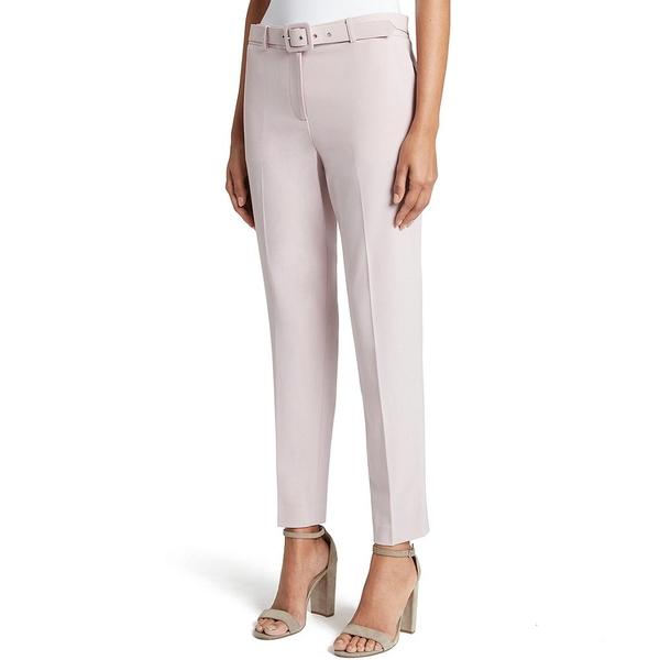 タハリエーエスエル レディース カジュアルパンツ ボトムス Petite Size Bi-Stretch Ankle Belted Pant Pale Pink