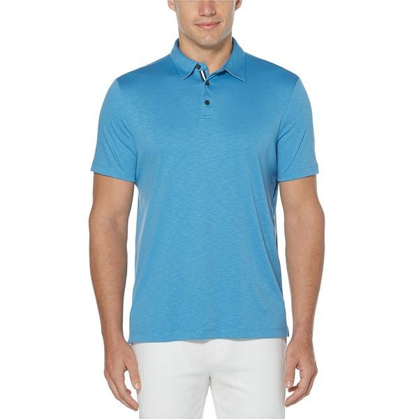 ペリーエリス メンズ ポロシャツ トップス Solid Soft-Touch Short-Sleeve Polo Shirt Parisian Blue