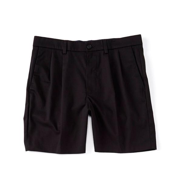 ランドツリーアンドヨーク メンズ ハーフ&ショーツ ボトムス totalFLEX Pleated 7#double; Inseam Shorts Black