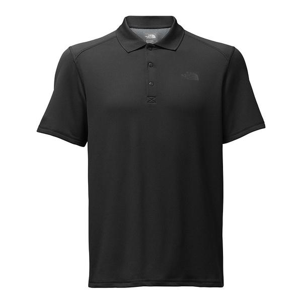 ノースフェイス メンズ ポロシャツ トップス Short-Sleeve Horizon Tonal-Striped Polo TNF Black