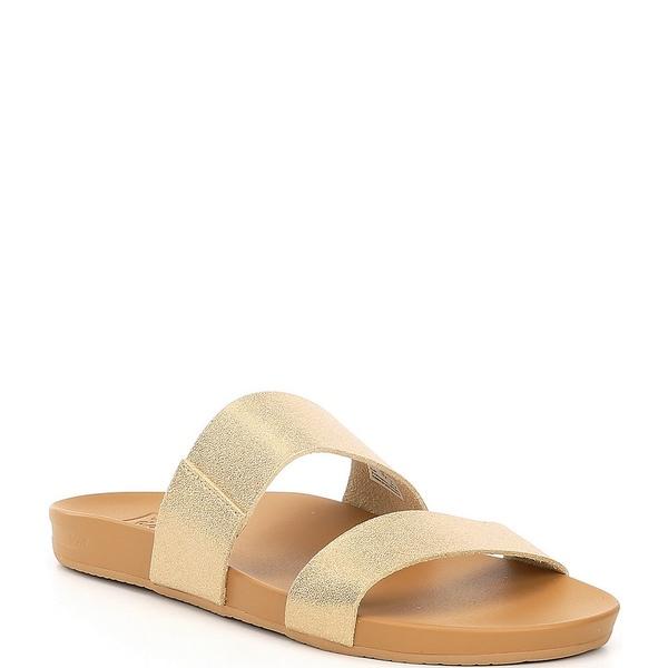 リーフ レディース サンダル シューズ Cushion Bounce Vista Slide Sandals Tan/Champagne