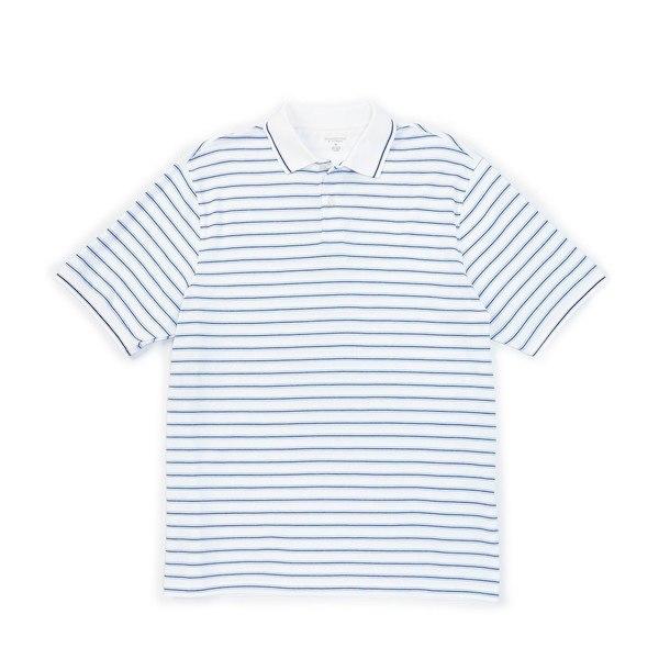 ランドツリーアンドヨーク メンズ ポロシャツ トップス Short-Sleeve Stripe Polo White