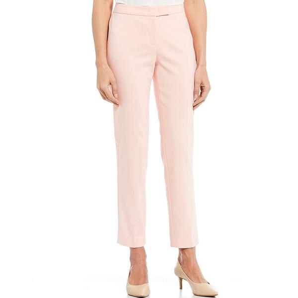 アンクライン レディース カジュアルパンツ ボトムス Cotton Double Weave Slim Straight Leg Pant Cherry Blossom