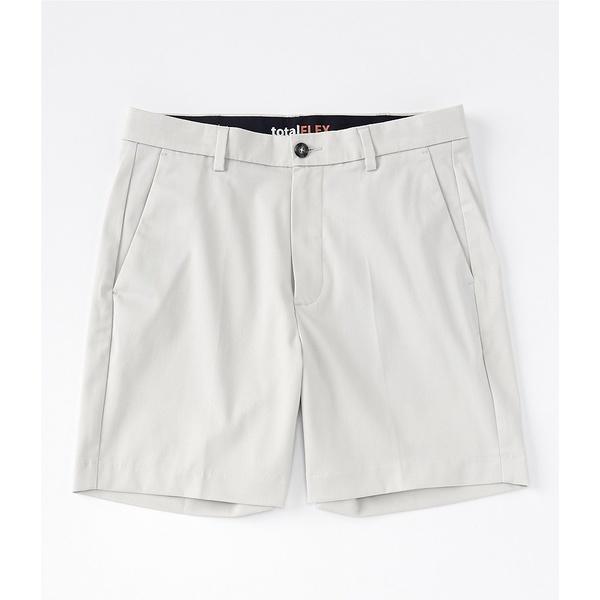 ランドツリーアンドヨーク メンズ ハーフ&ショーツ ボトムス TotalFLEX 7#double; Flat Front Shorts Stone