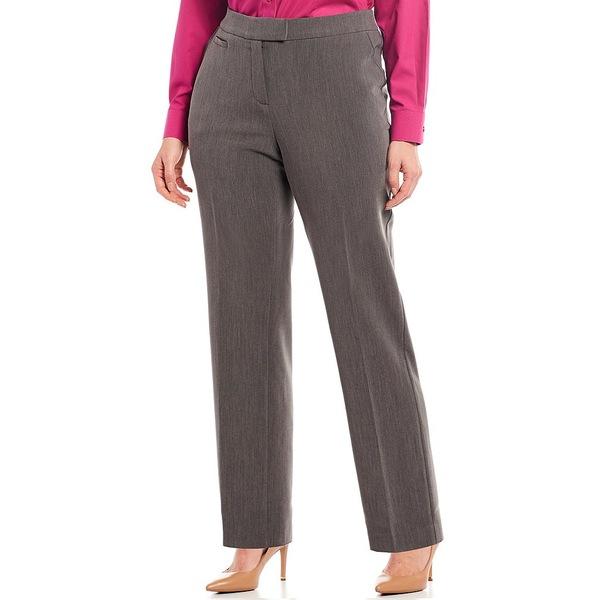 インベストメンツ レディース カジュアルパンツ ボトムス Plus Size the 5TH AVE fit Straight Leg Pants Heather Grey