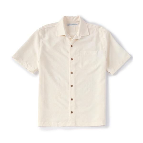 カリビーン メンズ シャツ トップス Bird of Paradise Short-Sleeve Woven Shirt Off White