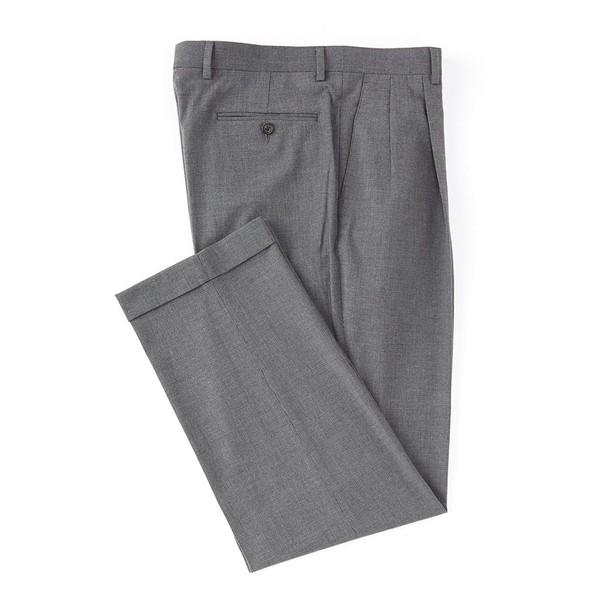 ラルフローレン メンズ カジュアルパンツ ボトムス Pleated Relaxed Fit Solid Dress Pants Grey