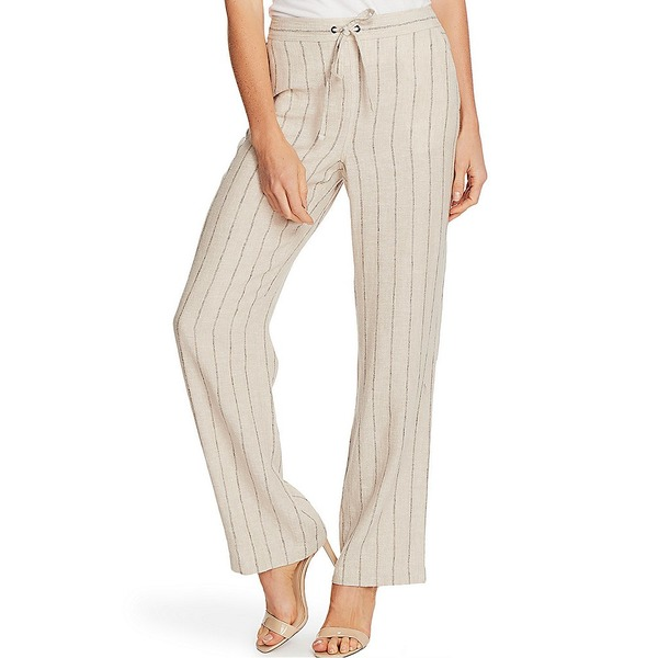 ヴィンスカムート レディース カジュアルパンツ ボトムス Wide Leg Striped Linen Blend Pants Light Stone