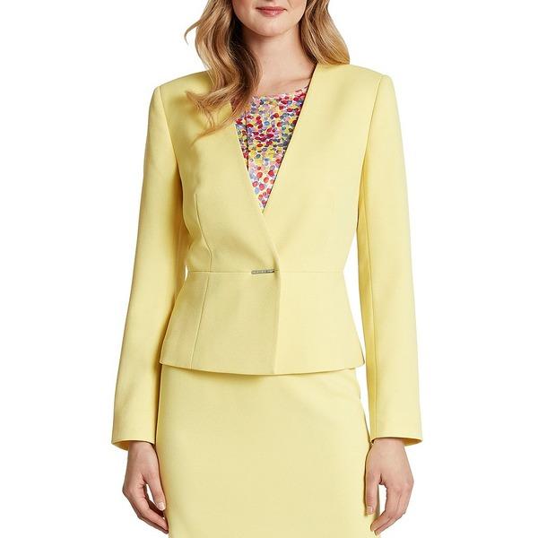 タハリエーエスエル レディース ジャケット&ブルゾン アウター Long Sleeve Twill Jacket Lemon Yellow