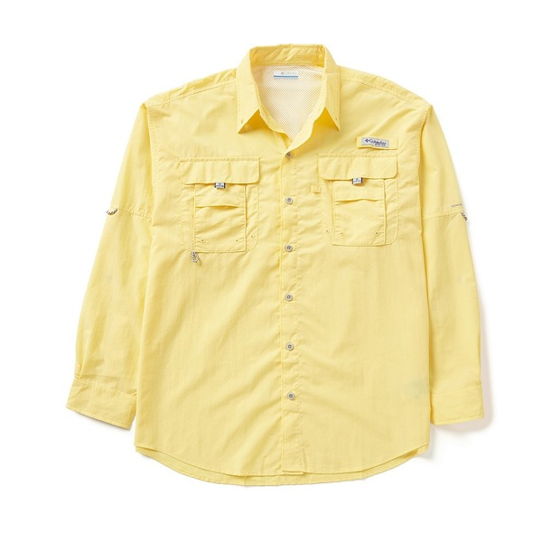 コロンビア メンズ シャツ トップス PFG Bahama II Omni-Shade Long-Sleeve Solid Shirt Sunlit