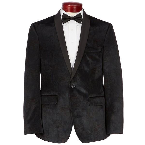 ムラノ メンズ ジャケット&ブルゾン アウター Slim-Fit Paisley Velvet Blazer Green