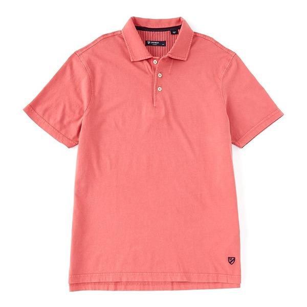 クレミュ メンズ ポロシャツ トップス Solid Garment Dyed Short-Sleeve Polo Shirt Berry