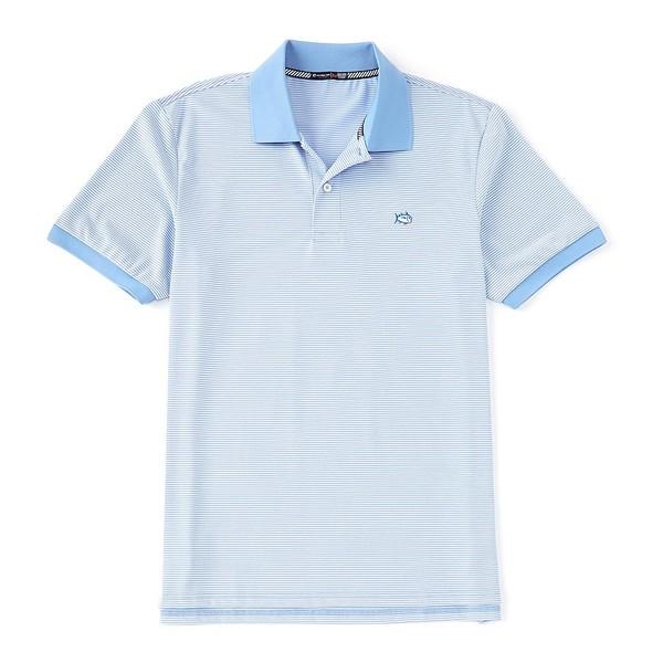 サウザーンタイド メンズ ポロシャツ トップス Jack Dinghy Stripe Performance Stretch Short-Sleeve Polo Shirt Hurricane Blue