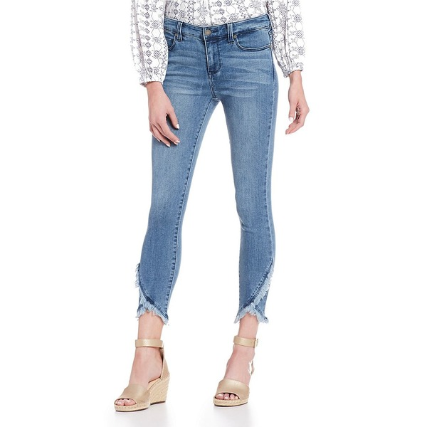 リバプールジーンズ レディース デニムパンツ ボトムス Abby Skinny Frayed Tulip Hem Ankle Jeans Ibiza