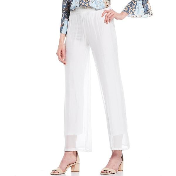 エム・メイド・イン・イタリー レディース カジュアルパンツ ボトムス M Made In Italy Elastic Waist Pull-On Knitted Silk Blend Pant White