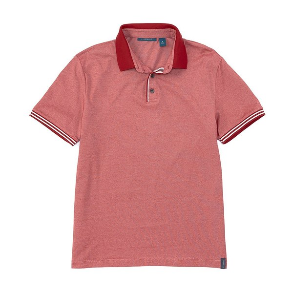 ペリーエリス メンズ ポロシャツ トップス Iconic Performance Stretch Short-Sleeve Polo Shirt Rhubarb