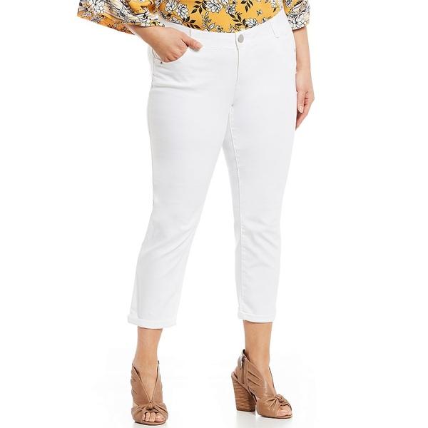 デモクラシー レディース カジュアルパンツ ボトムス Plus Size #double;Ab#double;solution Ankle Jeans Optic White