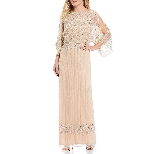 ピサッロナイツ レディース ワンピース トップス Beaded Bodice Blouson Gown Light Blush
