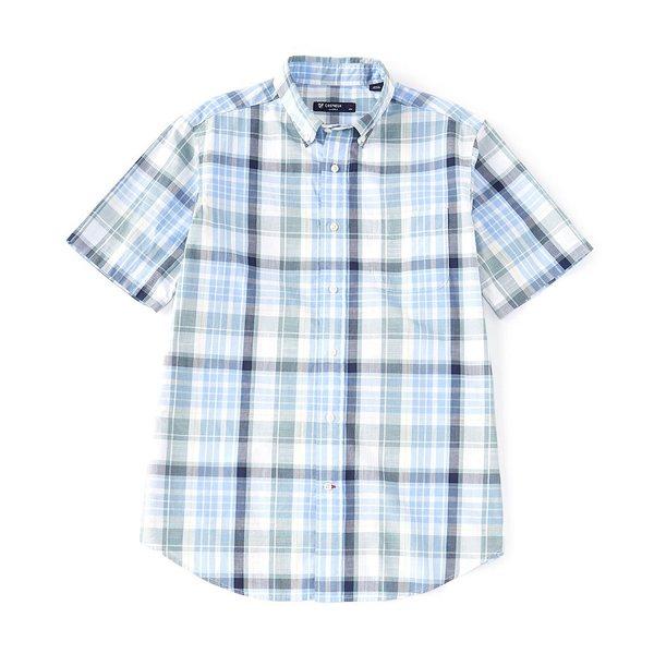 クレミュ メンズ シャツ トップス Plaid Short-Sleeve Woven Shirt Multi Blue